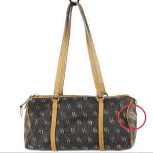 Dooney & Bourke Signature Rainbow Barrel Bag gray